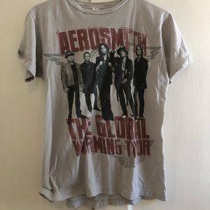 Aerosmith 2012 Gray/Grey Tour T Shirt